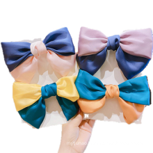 New Fabric Color Contrast Big Hair Barrettes Bow Knot Fashion Accessories Hairpin Korean Sweet Spring Clip