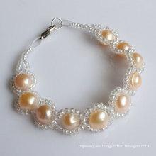 Joyería de agua dulce de la pulsera de la perla de la manera (EB1529-1)