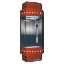 630kg Elevador de observación de la sala de máquinas con vidrio