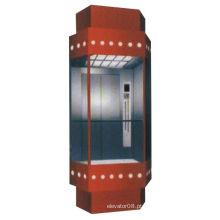 630kg Elevador de observação de sala de máquinas com vidro