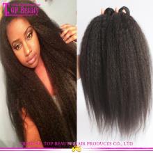 Необработанные странный прямо яки волос weave 100% Виргинские монгольский kinky прямая волос
