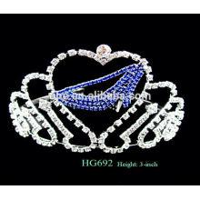 Coroa de tiara de férias para casamento coroação casamento tiara coroas de cristal tiaras para casamento rosa tiara de fadas