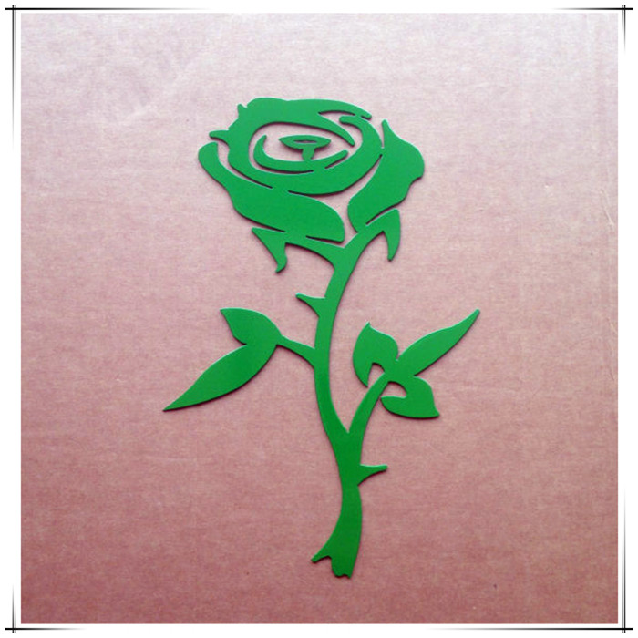 laser cut metal rose