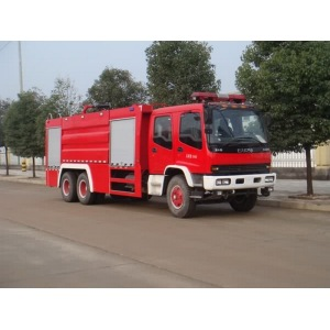 ISUZU 6X4 airport rescue water foam fire truck