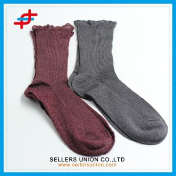 2015 new design lace pattern nylon long socks for women