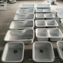Plan de travail en marbre artificiel Royal / comptoir avec évier