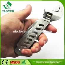 5 en 1 herramienta de llave de mano de acero inoxidable de múltiples funciones