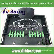 19 '' Fixed 1U Rack Mount Fiber Optic Patch Panel / ODF mit transparenter Abdeckung