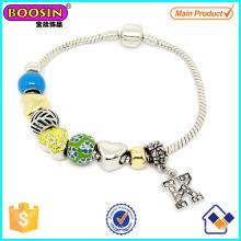 Bracelet en perles de métal émail à la mode # Scb007