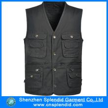 Factory Custom Design Journalist Twill Fashionable Work Pocket Vest