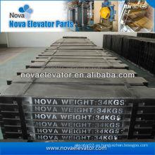 Bloque del contrapeso del elevador, bloque del contrapeso del compuesto / del hierro fundido para el elevador del pasajero / ascensor de la carga / elevador de la cama