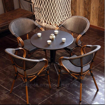 Vintage Cafe Rattan Restaurant Furniture for 4 Persons (SP-CT838)