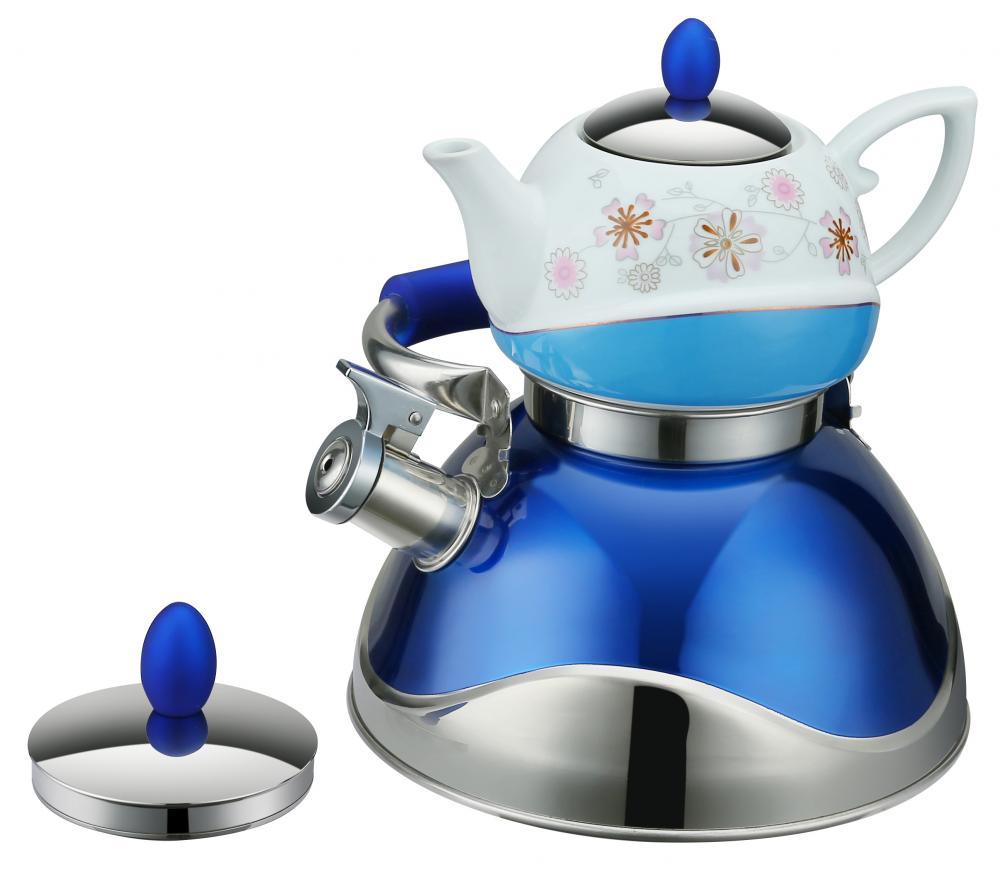 Blue Wave Shape Traditional Tea Pot