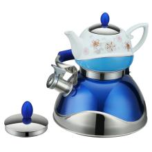 Traditionelle Malerei Blue Tea Pot Whistling Kettle