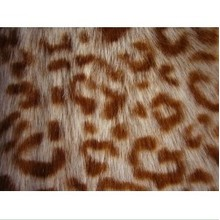 Printed Fabric Fake Fur