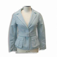 Unlined Girl's Casual Jacket, Made of 100% Cotton, with Adjustable Waist Belt