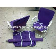 Replier la chaise de plage pas cher avec sac de transport.