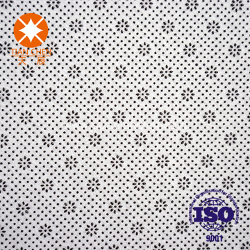 Polyester needle punched nonwoven felt fabric with PVC dots