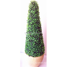 Artificial decorative boxwood plants and trees for indoor and outdoor use