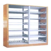 Livre de bibliothèque scolaire moderne étagères étagères de bibliothèque en acier