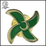 Gold Windmill shape pin badge