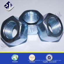 DIN 934 Углеродная сталь с горячим погружением Шестиугольная гайка