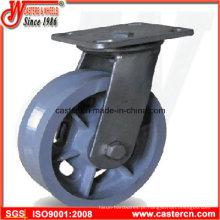 4 polegadas a 8 polegadas V-Groove ferro fundido roda rodízios