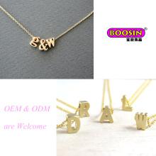 """Heiße verkaufende kundenspezifische handgemachte Goldkette """"a~Z"""" Buchstaben-Anhänger-Halskette"""