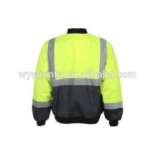 CLASS D / N, chaqueta reflectora de alto rendimiento AS / NZS, chaqueta de alta visibilidad de tela de algodón oxford de 300D