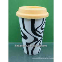 hot sale!!! 300ml lovely wholesale ceramic travel mug