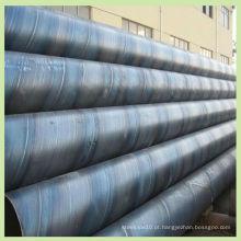 ASTM A252 SSAW Espiral Tubo de aço carbono soldado