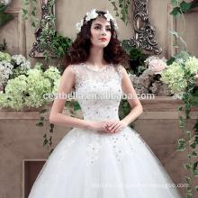2016 Vestidos de boda modernos baratos del vestido de bola del estilo y de la novia para la boda civil