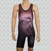 Sublimación personalizada de alta calidad lucha camiseta para hombres