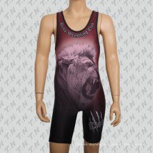 High Quality Customized Sublimation Wrestling Singlet for Men