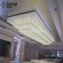 Iluminación de gran cristal de hotel de cinco estrellas moderna hecha a medida