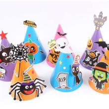 Halloween-Papierkarikaturhüte