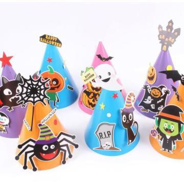 Sombreros de dibujos animados de papel Halloween