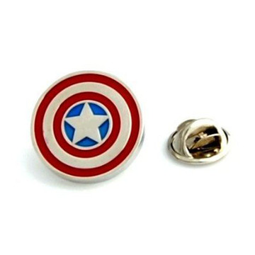 Superhero Captain America Metal Lapel Badges
