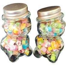 Wholesale 100ml 200ml Clear Wide Mouth Glass Yogurt Pudding Bottle Candy Jar with Plastic Lid