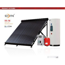Split Two Cooper Coils Vacuum Tube Solar Water Heating System for Pool