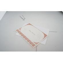 Tarjetas de lujo de la invitación de la boda tarjetas Tarjeta de felicitación de la tarjeta de felicitación