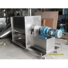 Stone-like coating horizontal double belt mixer