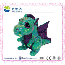 Green Dragon olhos grandes brinquedos de pelúcia para crianças