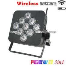 9 * 10w RGBWA 5 em 1 par bateria sem fio