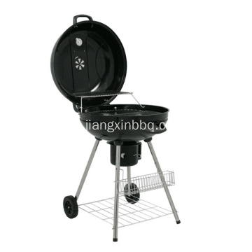 Charcoal Kettle Barbecue Grill Svart 22,5 tum