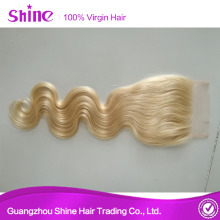 Natural Part Hair Lace Closures Blonde Piece