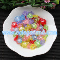 4.5*11MM Plastic Flower Shape Alphalet Letter Beads Charms