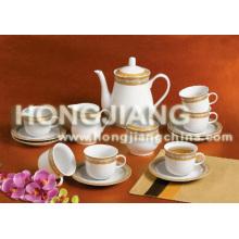 Juego de té 17 piezas (DECORACIÓN DE ORO)