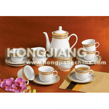 17pcs Tea Set (GOLDEN DECOR)