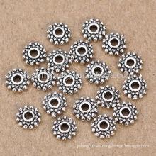 Sef097 Fashion 5mm 925 cuentas de la joyería de los granos del espaciador de la plata esterlina para los artículos elegantes de DIY Envío libre